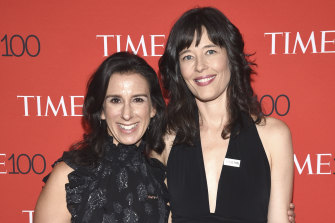 Jodi Kantor, left, and Megan Twohey attend the Time 100 Gala celebrating the 100 most influential people in the world in New York in 2018.