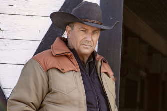 Kevin Costner as billionaire Montana rancher John Dutton in Yellowstone.