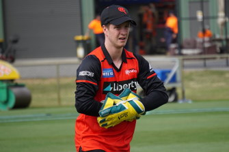 Sam Harper training with the Renegades.