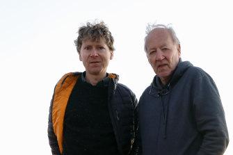 Clive Oppenheimer and Werner Herzog.