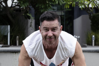 Stephen Brook has gone back to basics with his fitness regime in self-isolation.