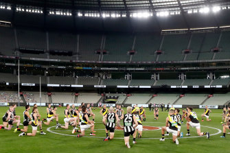 AFL was played behind closed doors after a months-long shutdown due to COVID-19, as was NRL.