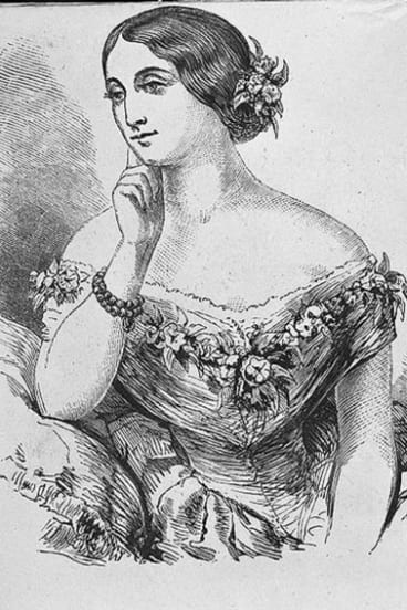 Operatic diva Miss Catherine Hayes.
