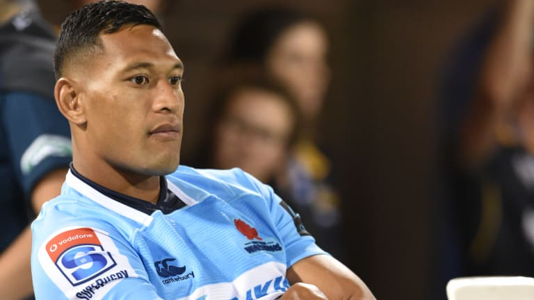 Sidelined: Folau will miss three or four games with a hamstring injury.