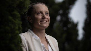 Inspiration: big-hitting cricketer Alyssa Healy says she looks up to Rugby Australia boss Raelene Castle.