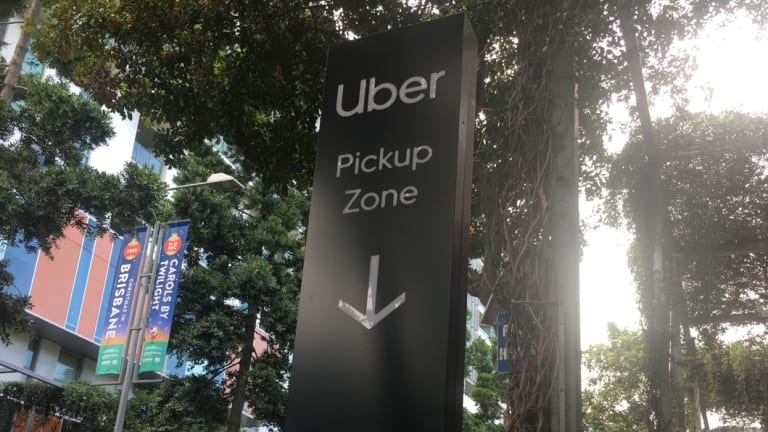 Ten new Uber pick up/drop off zone have been installed at South Bank.