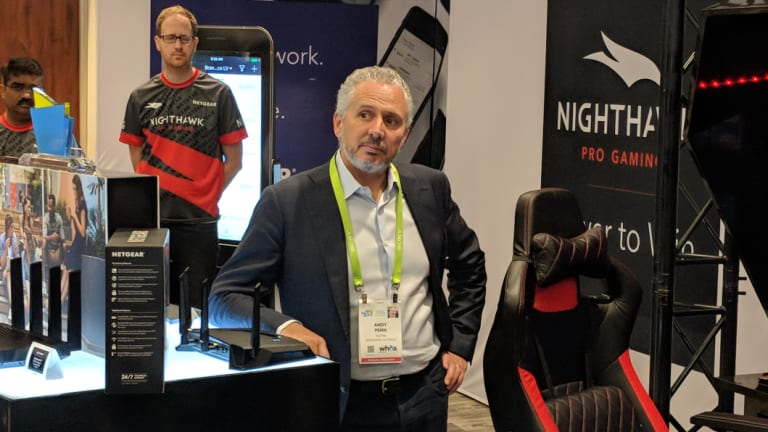 Telstra CEO Andy Penn at the 2018 Consumer Electronics Show in Las Vegas.