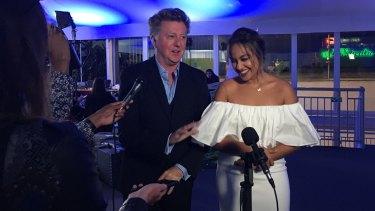 Clarke, left, said Australians should be proud of Mauboy's performance.