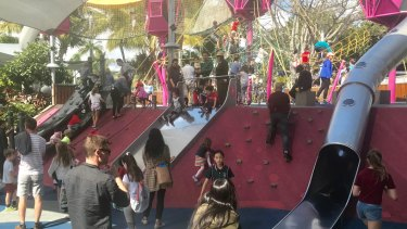 South Bank's play equipment is a good model to introduce to the Queen Street Mall, Jonathan Sri says.