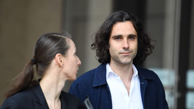 Mark Leonard Winter, who played Edgar in King Lear, outside the Federal Court last Thursday.