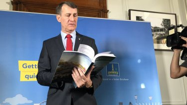 Cr Quirk delivers the 2018 Brisbane City Council budget.