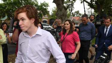 Luke Munday arrives at court in December last year.