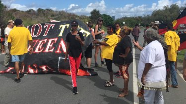 Indigenous protesters shut down the baton relay on its last leg.