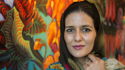 Lunch with activist Tecber Ahmed Saleh