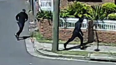 CCTV footage of the two men who are believed to have killed Hawi.