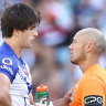Bulldogs fined $20,000 for Lewis concussion as trainer says he didn't see tackle