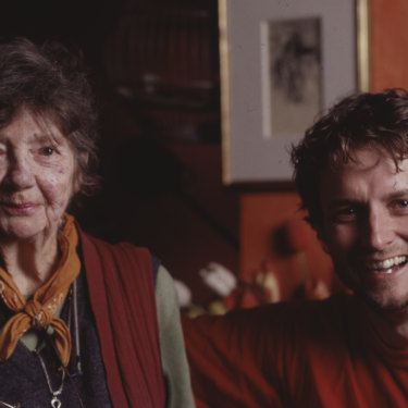 Margaret Olley was a mentor to Ben Quilty, pictured together in 2005. His portrait of Olley won the 2011 Archibald Prize.