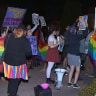 Yes and no campaigners clash outside Brisbane church
