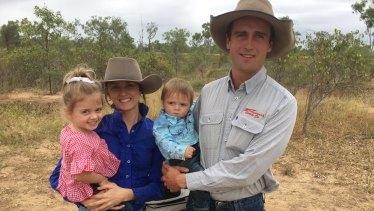Ureisha and Bristow Hughes, with their children, Brialie and Archie.