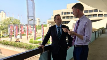Lord mayor Adrian Schrinner and Transport Minister Mark Bailey have announced an agreement between council and state to start work on Brisbane Metro.