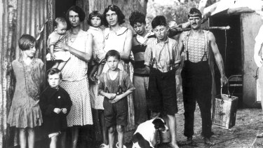 A family in Sydney during the Great Depression.