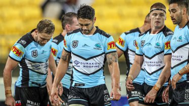 Slump: Shaun Johnson and the Sharks can't take a trick of late.
