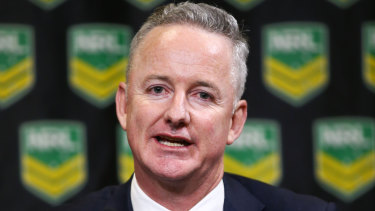Nine chief executive Hugh Marks forced the NRL to swallow some bitter medicine.