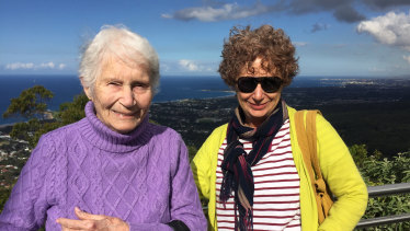 Michele Elliot with her late mother.