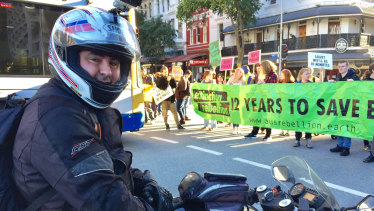 Motorcyclist Nelson Portela said the protesters' actions were 'inconsiderate' and 'rude'.
