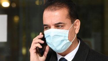 Ali Khorami leaves court in July.