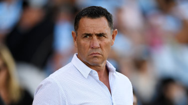 Former Cronulla Sharks coach Shane Flanagan is hoping for an NRL return.