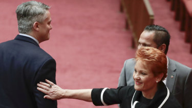 Pauline Hanson has attempted to bait the Nationals over their internal angst with their own leadership.