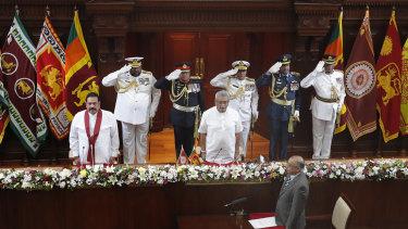 The swearing-in ceremony occurred at the presidential secretariat in Colombo, Sri Lanka.
