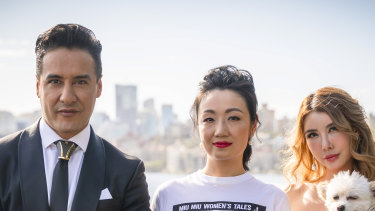 Concierge Karim Gharbi looks after businesswoman Lulu Pallier and charity princess Crystal on Sydney's Crazy Rich Asians, part of Ten's Pilot Week.