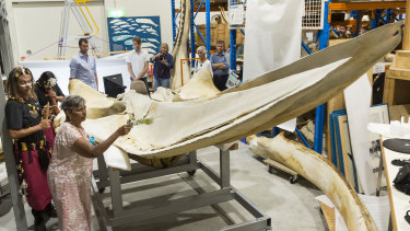 The skeleton's size made it challenging to fit into a shipping container for its trip to Canada.