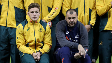 Michael Hooper and Cheika have a mammoth task ahead of them 10 months from the World Cup.