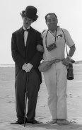 Suero posed with Brigitte Bardot, dressed as Charlie Chaplin, in Acapulco in 1965.
