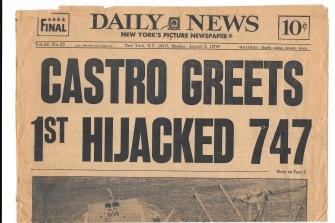 How the Daily News covered the hijacking story.