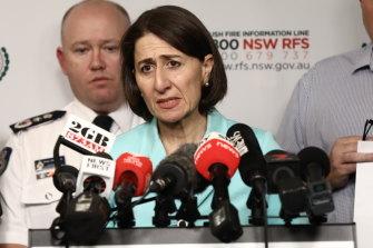 Premier Gladys Berejiklian has declared a state of emergency.