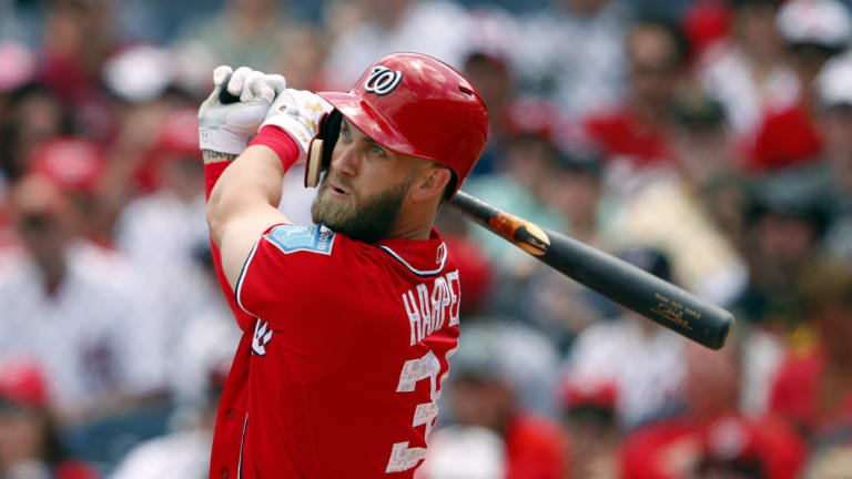 Not enough: Washington star Bryce Harper turned down the richest contract ever offered in US sport.