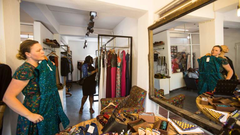 "Rwanda Clothing's ""modern African"" designs."