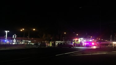 The site of a car crash that occurred just before 7pm on Sunday, May 13, at the corner of Wakefield and Northbourne avenues.