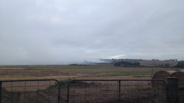 Smoke from burning peat in south-west Victoria