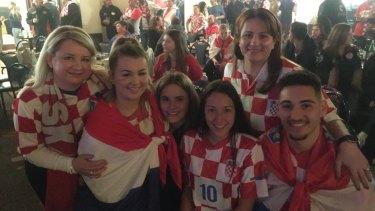 Marijana Skrnjug, Jessica Skrnjug, Bella Tammaro, Alexa Panagiotopoulos, Anita Tammaro and Mate Barisic at the Canberra Croatian club.