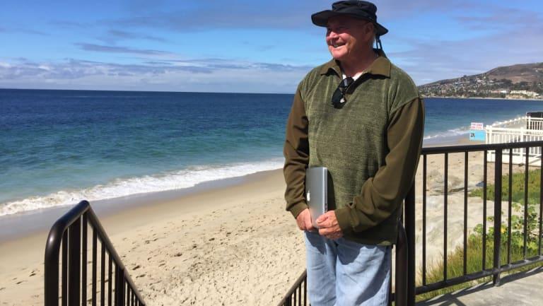 Former Australian surfing champion Ian Cairns at Laguna Beach in southern California, where shark attacks are increasing.