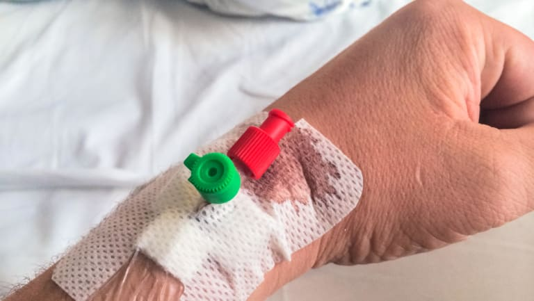 Overstretched hospital staff insert catheters in hands, wrists and elbows because the veins are easier to access, authors said.