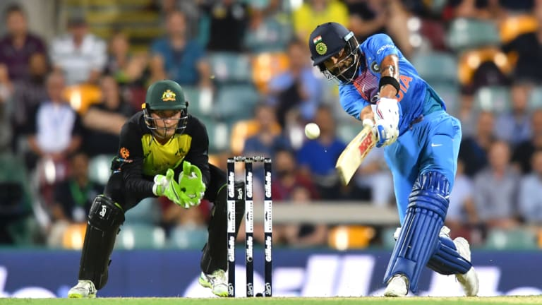 Formidable: Kohli comes into the 2018 series in imposing form across all formats against a wounded Australia side.