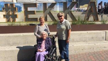 Hashtag Ekka. Daphne Smallcombe, 96, and her daughters Coralie Batchelder and Judy Lemske at the 2018 Ekka.