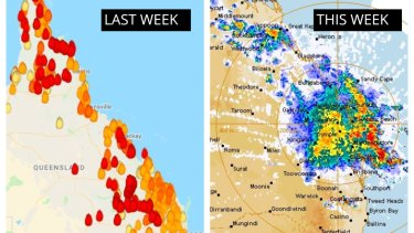 In December 2018 Queensland's central coast was covered in bushfires one week, then heavy rains.