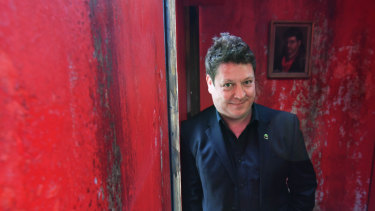Melbourne International Arts Festival artistic director Jonathan Holloway inside the 1000 Doors exhibit.